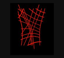 Red neon lines Unisex T-Shirt