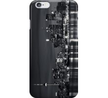 Toronto Skyline At Night From Polson St No 2 Black and White Version iPhone Case/Skin