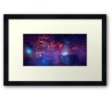 Hubble Space Telescope Print 0025 - NASA's Great Observatories Examine the Galactic Center Region  - hs-2009-28-b-full_jpg Framed Print