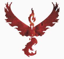 Team Valor Space/Fire theme - Pokemon GO Kids Tee