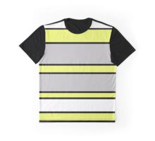 Gray an yellow  Graphic T-Shirt