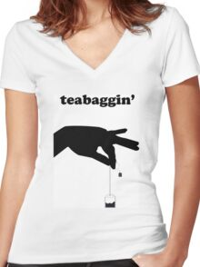 Time for Teabaggin' Women's Fitted V-Neck T-Shirt