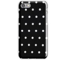 Classic Black & White Polka Dots iPhone Case/Skin