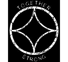 Together Strong (White) Photographic Print