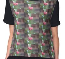 Poppy flower and seed head Chiffon Top