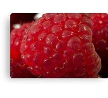 Raspberry Macro Canvas Print