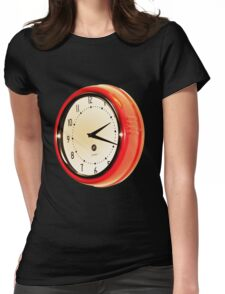 Vintage Clock Womens Fitted T-Shirt