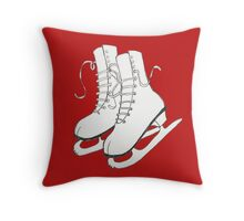 Figure Skates Throw Pillow