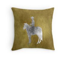 Grunge Cowboy Throw Pillow