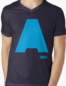 Amin Van Buuren logo A blue - t-shirt - trance - state of trance - festival - tomorrowland - new Mens V-Neck T-Shirt