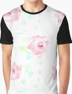 Rose Garden Floral Pat Graphic T-Shirt