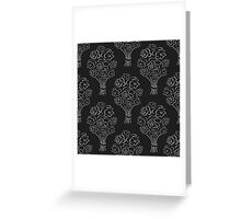 Rose bouquet seamless pattern. Hand drawn outline black background. Flower sketch wallpaper. Greeting Card