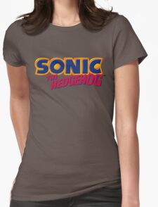 SEGA Sonic the Hedgehog LOGO Womens Fitted T-Shirt