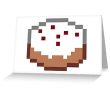 Minecraft Cake Greeting Card