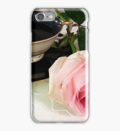 Beauty in Pink - Rose and tea cup iPhone Case/Skin