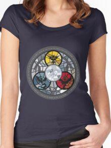 (The legendary Birds) Pokemon Parody Design Women's Fitted Scoop T-Shirt