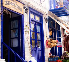 Vibrant blue in traditional Greek style by visualimagery