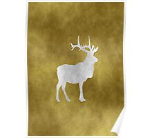 Grunge Elk Poster
