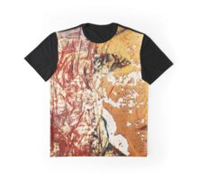 Red and Yellow Wall Graphic T-Shirt