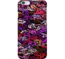 Red Purple Fractal Twist iPhone Case/Skin