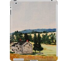 Farmhouse Valley Forge Pennsylvania Countryside Contemporary Acrylic Painting iPad Case/Skin
