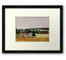 Farmhouse Valley Forge Pennsylvania Countryside Contemporary Acrylic Painting Framed Print