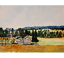 Farmhouse Valley Forge Pennsylvania Countryside Contemporary Acrylic Painting Photographic Print