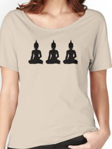Simple Black & White Buddhas Women's Relaxed Fit T-Shirt