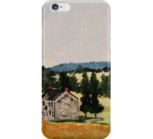 Farmhouse Valley Forge Pennsylvania Countryside Contemporary Acrylic Painting iPhone Case/Skin