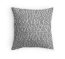 NSA Wordlist #1 Throw Pillow