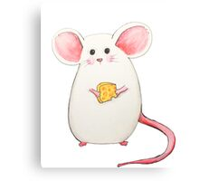 Mouse with cheese Canvas Print