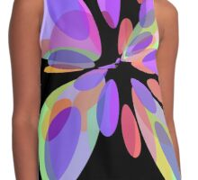 Colorful abstract flower Contrast Tank