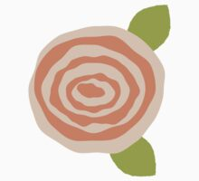 Orange Flower Sticker Peach Rose Cutout Floral Crafts by StickerStore