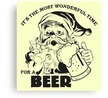The Most Wonderful Time for a Beer Canvas Print