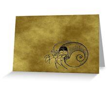 Grunge Hermit Crab Greeting Card