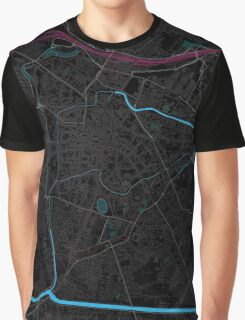 Padova - Italy - Dark Magenta Map Graphic T-Shirt