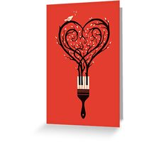 Paint you love song Greeting Card