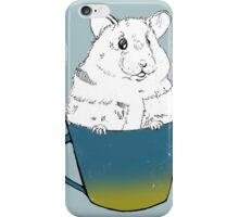 Cute Hamster sitting in mug iPhone Case/Skin