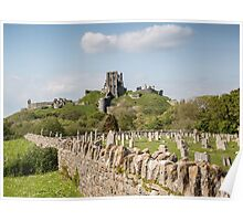 Corfe Castle , Dorset, UK Poster