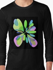Colorful abstract flower Long Sleeve T-Shirt