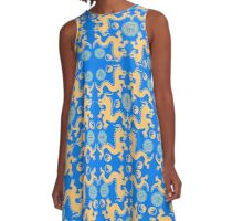 CHINESE DRAGONS-2 A-Line Dress