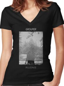 Grouper Ruins  Women's Fitted V-Neck T-Shirt