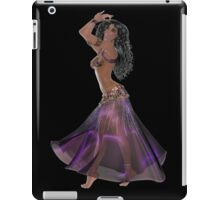 African American Arabic Brazilian Belly Dancer Woman with Black Curly Hair Wearing Purple and Golden Belly Dance Clothing  'bedlah' iPad Case/Skin