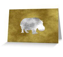Grunge Hippo Greeting Card