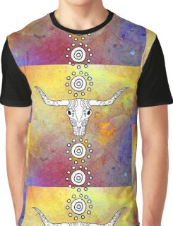 Sugar Skull Color Splash Series Don't Mess with the Bull Graphic T-Shirt