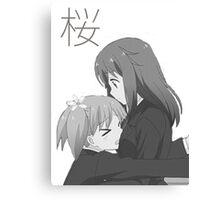 Haruka and Yuu Sakura Trick  Canvas Print
