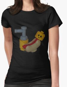The Cute Baby Hotdog! Womens Fitted T-Shirt