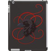 Black Raven with Red Ribbon Custom Design iPad Case/Skin