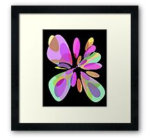 Colorful abstract flower Framed Print