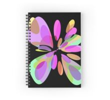 Colorful abstract flower Spiral Notebook